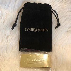 Courvoisier Cognac Gold Tone Money Clip with Gift Box NEW